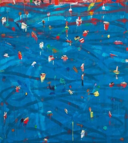 6. Azul cerúleo. Serie El mar de la China (2005), de Alfonso Albacete