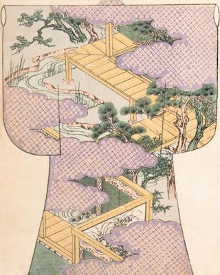 9. Hoja exfoliada de un ehon sobre diseño de kimonos (1900)